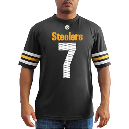 NFL Mens Pittsburgh Steelers B Roethlisberger 7 Player Synthetic Fashion Tee by