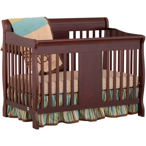 Storkcraft Calabria 4-in-1 Fixed-Side Crib, Cherry