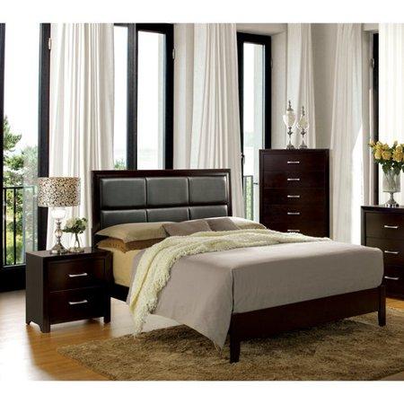 Furniture of America Barett 3-Piece Espresso Bedroom Set, Multiple ...