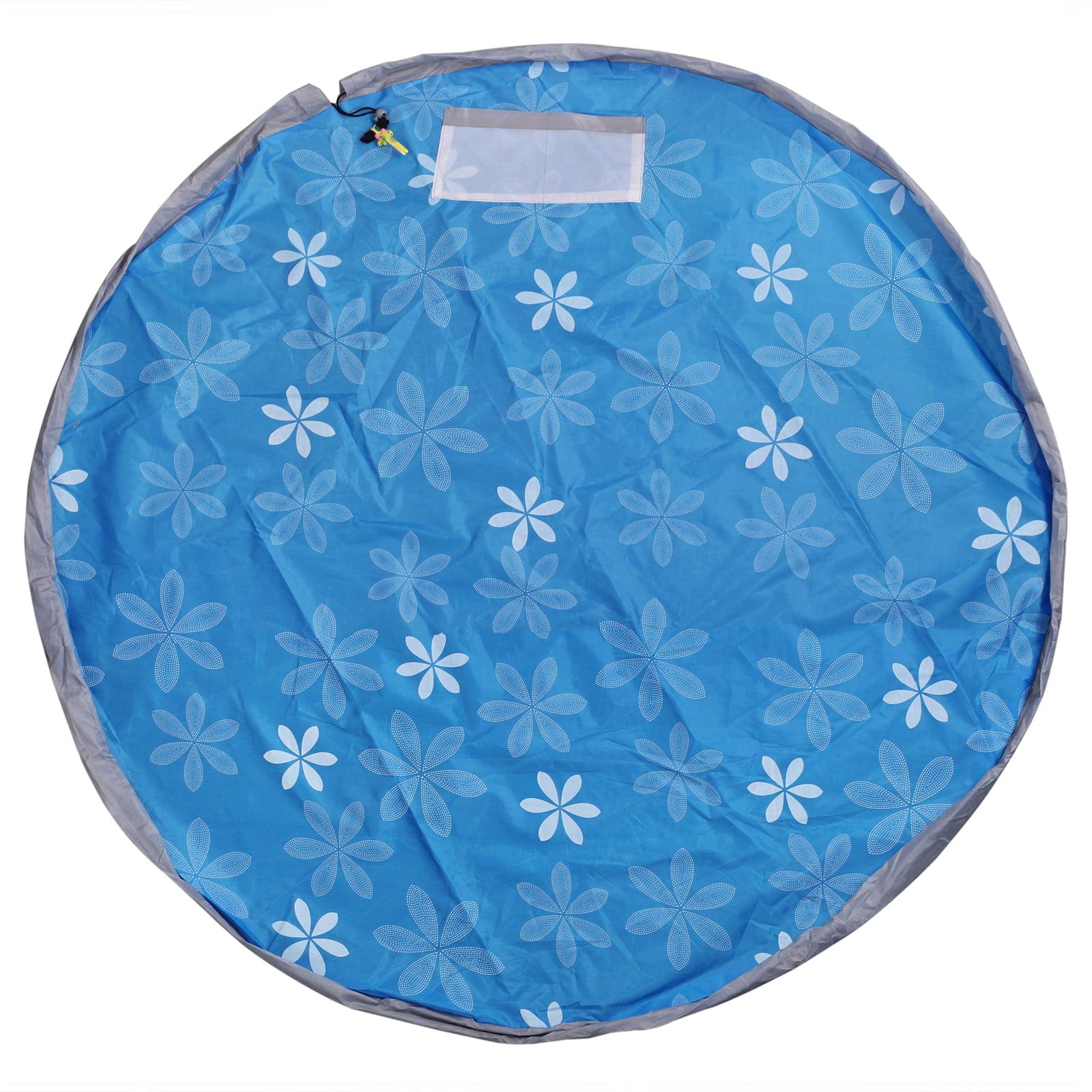 Eklead Toy Storage Bag Blue Large Tidy Bag Kids Rug Portable Kids Toys Organizer Storage Drawstring Bag Children Play Mat 150cm