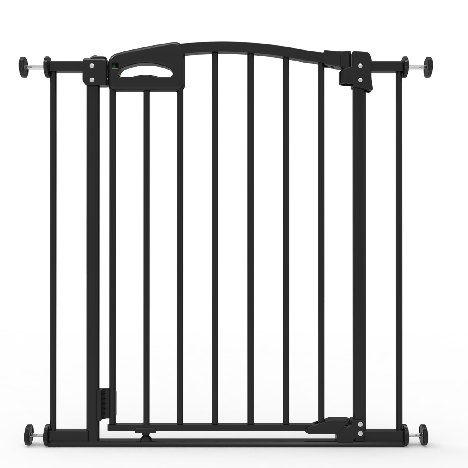 Perma Ultimate Baby Gate, Safe Step , Auto Close & Locking Indicator, Pressure Mounted, Black