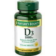 Nature's Bounty Vitamin D3 Softgels, 25 mcg, 1000 IU, 350 Ct