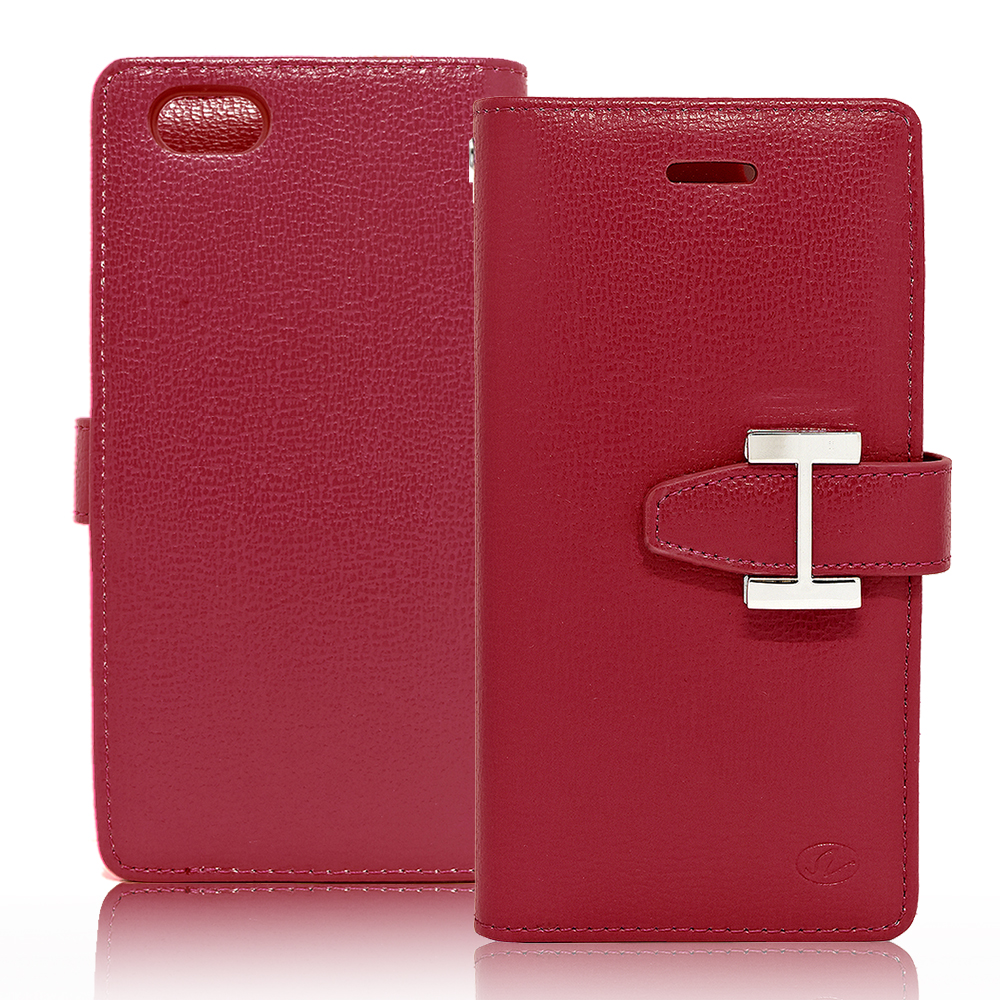 IPhone 6 / 6S Plus Luxury Leather Wallet Pouch Case Cover Red