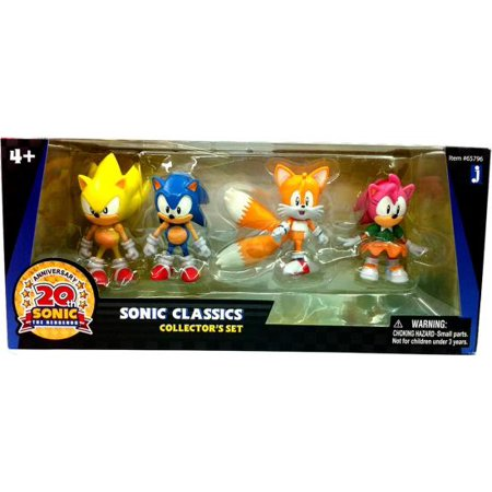 20th Anniversary Action Figure - Sonic The Hedgehog 20th Anniversary Sonic Classics Action Figure 4-Pack