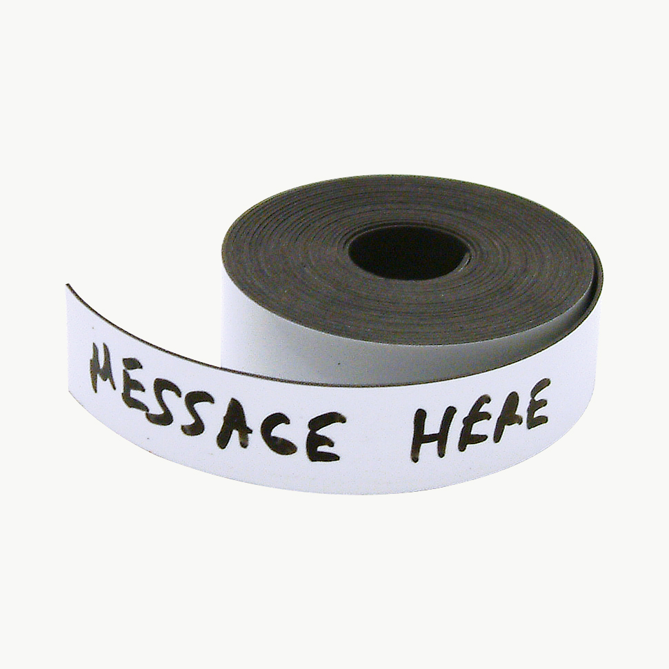 JVCC MAG-01-W Writeable Magnetic Tape: 3/4 in. x 10 ft. (White - Write-On/Wipe-Off)