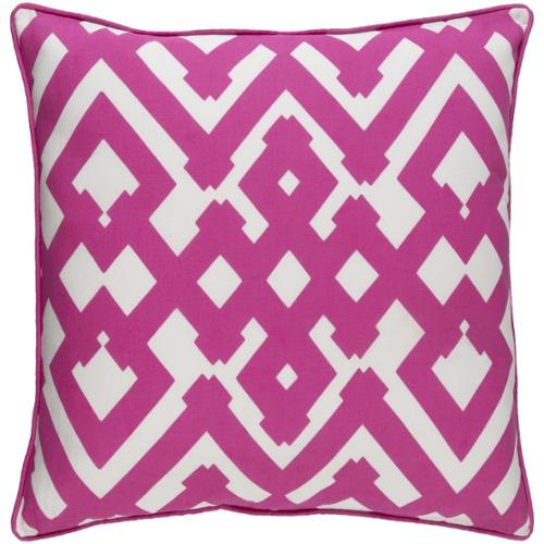 Decorative Esme 22-inch Down or Poly Filled Throw Pillow Down - Pink