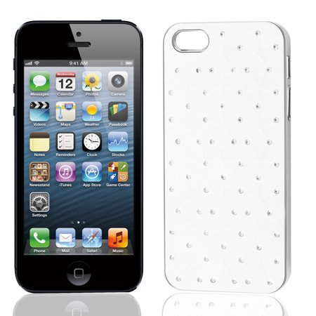 Unique Bargains Mirror Polished Design Back Case Cover White for Apple iPhone 5 5G
