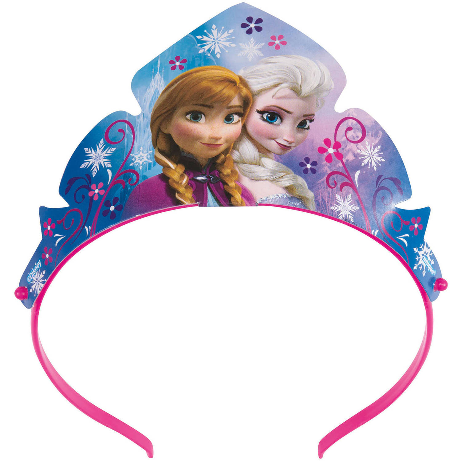 Paper Disney Frozen Tiara Party Favors, 3ct