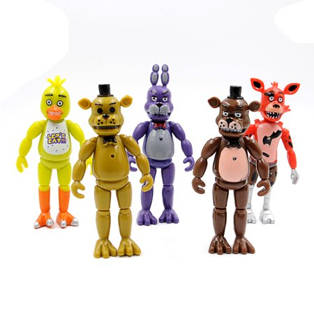 5 Pcs 6  Fnaf Action Figures Five Nights At Freddys With Light Kids Toys Gifts