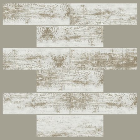 RoomMates StickTILES Distressed Wood Peel and Stick Backsplash - 4 Pack