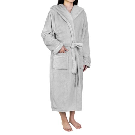 f094fb25bb PAVILIA - Premium Women Fleece Robe with Satin Trim