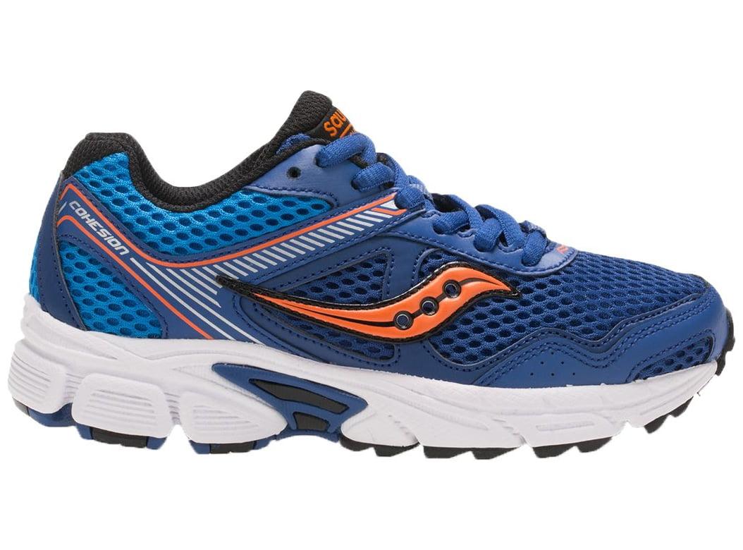 52965ee819f5 Saucony - Saucony Kids  Grade School Cohesion 10 Running Shoes  (Blue Orange