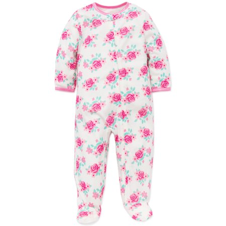 166bf5cd2 Little Me - Little Me Baby Girls Floral Zip Footie Pajamas Footed ...