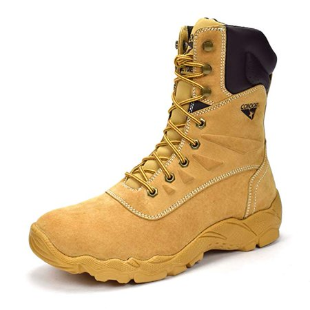 CONDOR Dakota Men's Tan Size 7 E US 8 in. Steel Toe Work Boot (Snowboard Size 10 Boots)