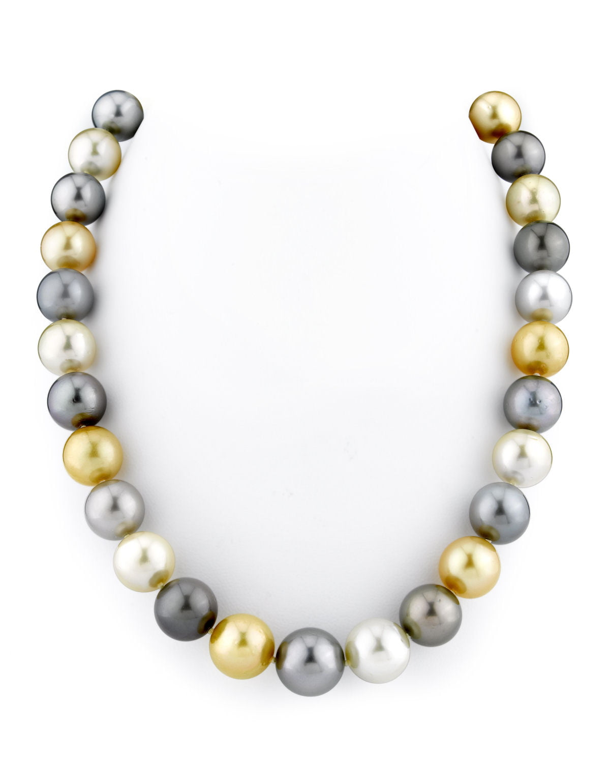 14K Gold 11-14mm Tahitian & Golden South Sea Cultured Pearl Necklace by The Pearl Source