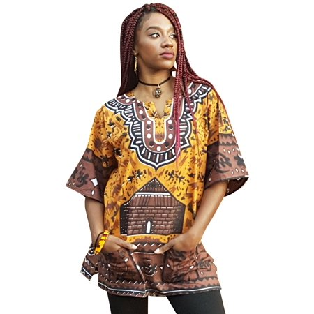 Traditional Square Top - Gye Nyame Traditional African Print Dashiki Top