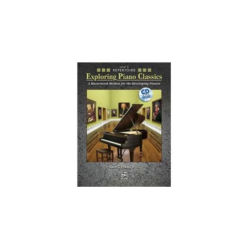 Alfred 00-31358 Exploring Piano Classics Repertoire- Level 2 - Music Book
