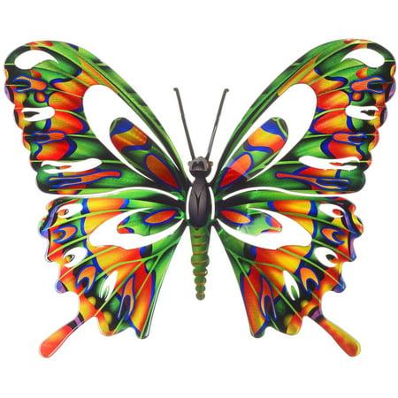 3D Medium Butterfly Multi Metal Wall Art By Next Innovations