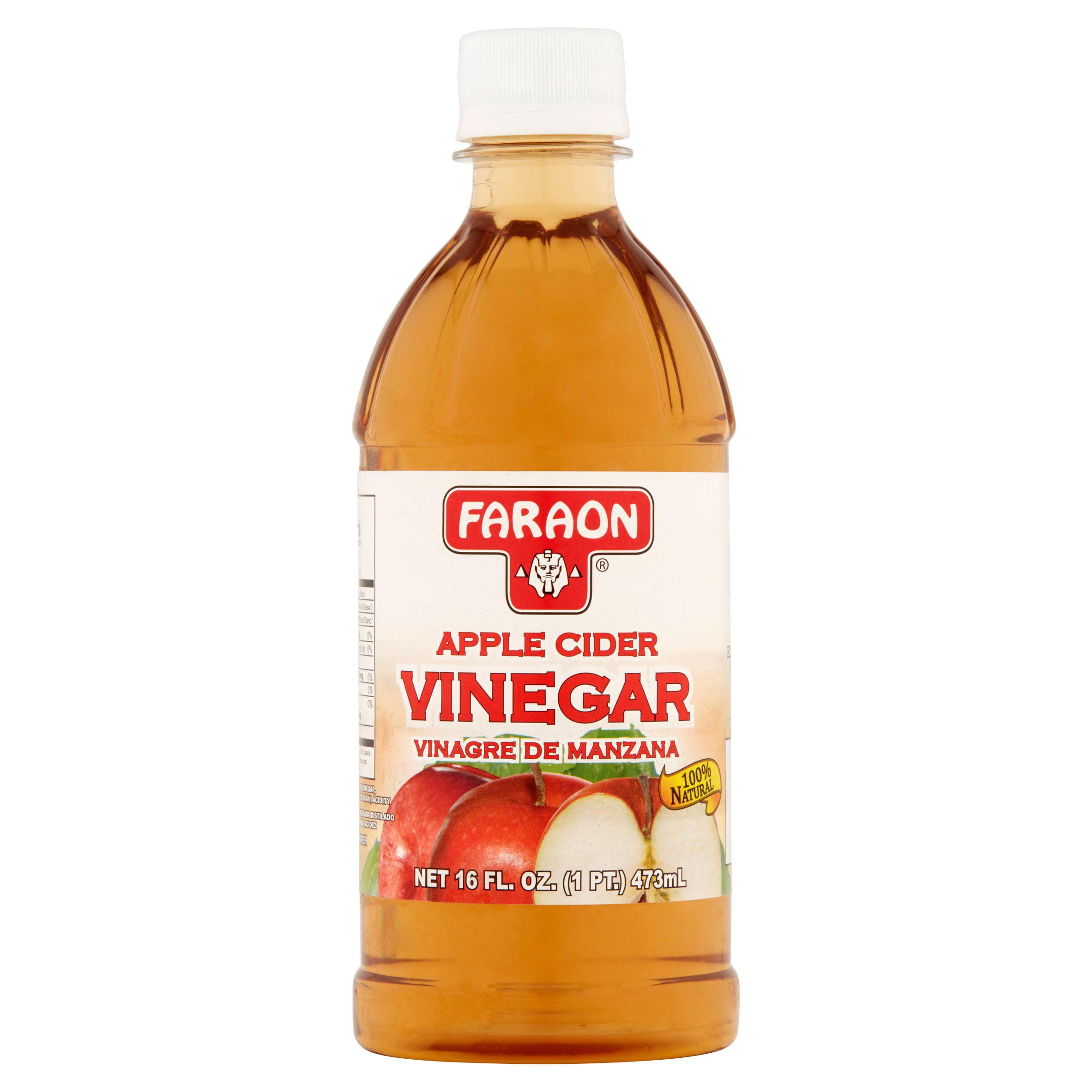 (4 Pack) Faraon Apple Cider Vinegar, 16.0 FL OZ