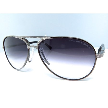 Dita Aviator Sunglasses Custom Set with Diamonds (1.85 Ct) - Custom Sunglasses Cheap