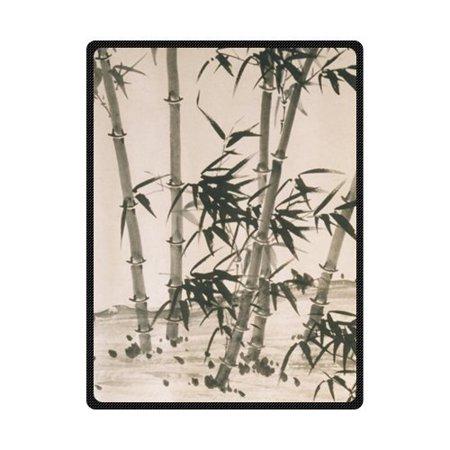 CADecor Mountain Bamboo Hard Fleece Blanket Throws 58x80 inches ()