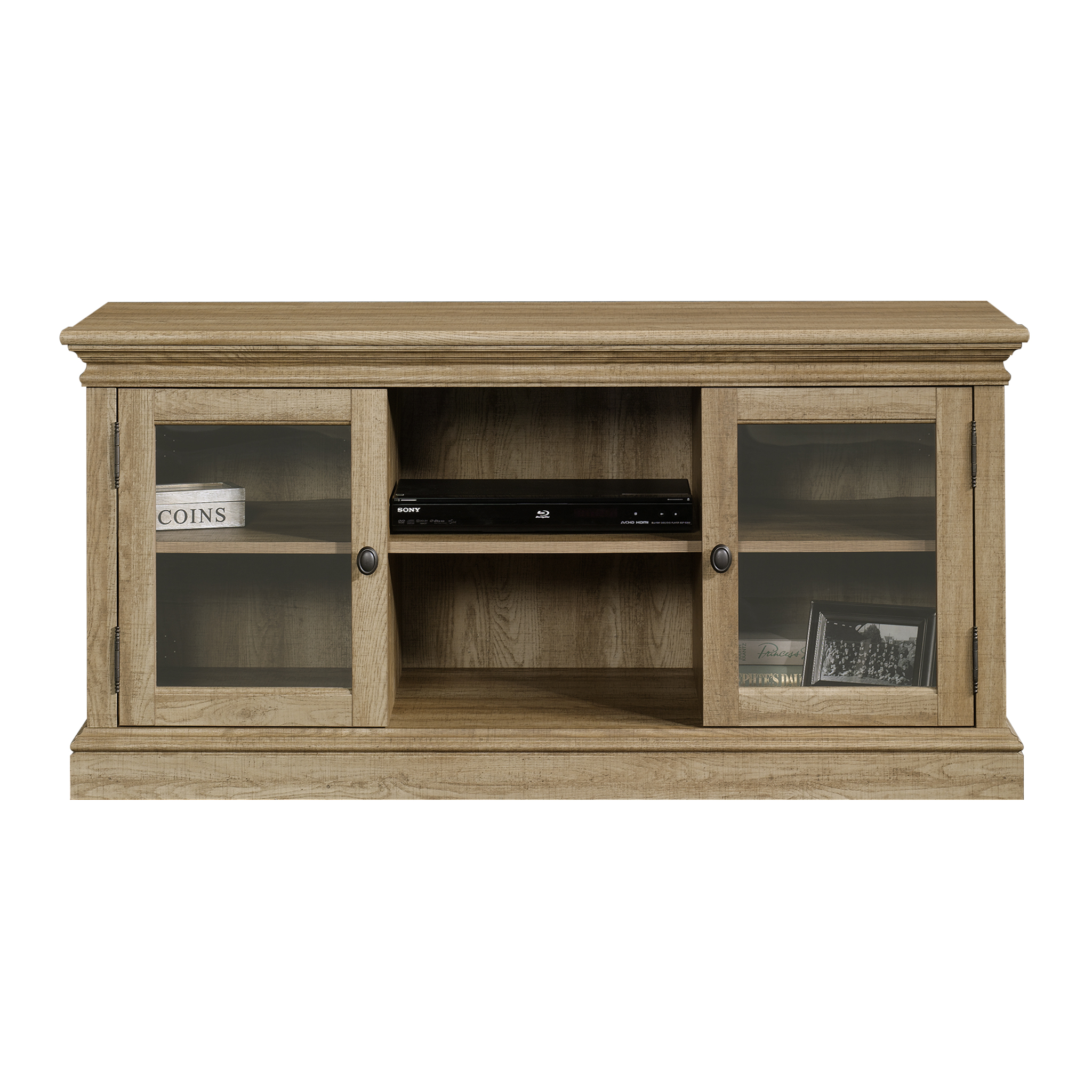scribed oak effect home sauder barrister lane entertainment credenza for tvs up to 60 home and office collection
