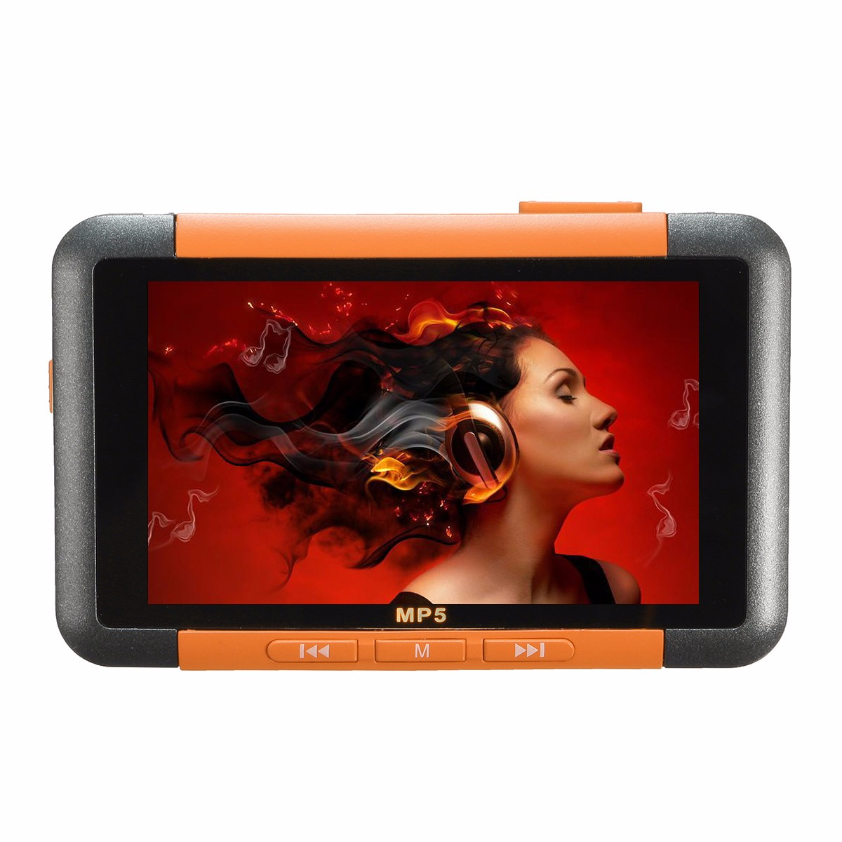 3 Inch  Slim 8GB LCD Screen MP3 MP4 MP5 Music Media Player Video Recorder FM Radio Picture Ebook Viewer With Earphone USB Cable