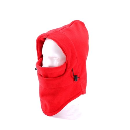 Thermal Fleece Balaclava Hood Wind Stopper Outdoor Sports Face Mask Red