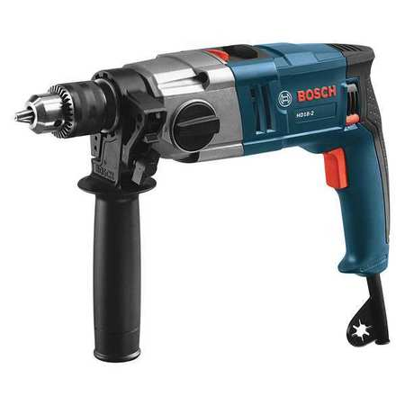 "Bosch HD18-2 Hammer Drill,1/2"",8.5A,0 to 51,000bpm"
