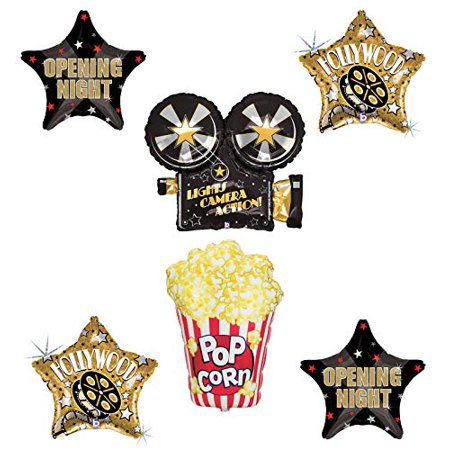 Movie Night Party Supplies Balloon Bouquet Decorations Hollywood Oscars Lights, Camera, Action - Balloons Hollywood