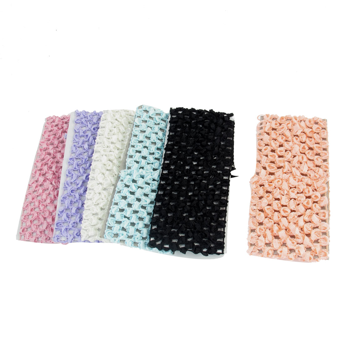 6Pcs Elastic Nylon Decor Sports Head Band Headband For Girl Lady