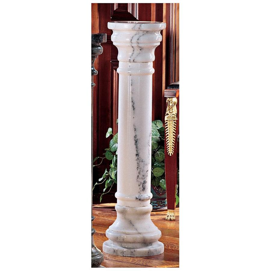 Large White Solid Marble Column
