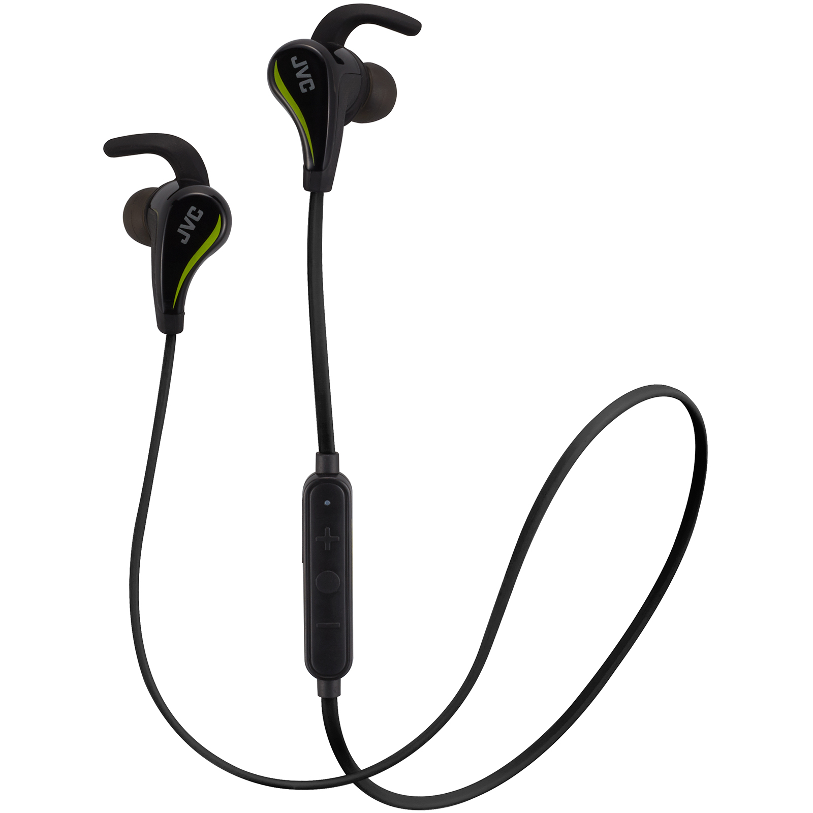 JVC HA-ET50BT Sports Inner Ear Wireless Bluetooth Headphones with Remote & Mic (Black)