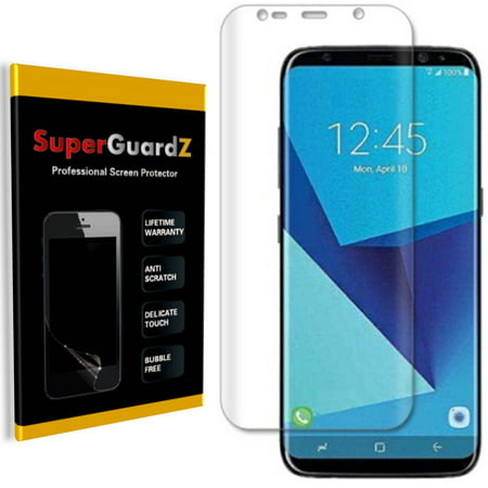 [2-PACK] For Samsung Galaxy S8 - SuperGuardZ 3D Curved FULL COVER Screen Protector, Full Screen Coverage, HD Clear, Anti-Scratch, Anti-Bubble, (Best Galaxy S8 Screen Protector)