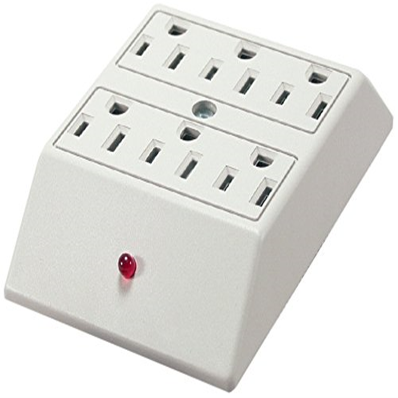Qvs 6 Outlet Wallmount Power Block Strip Surge Protector
