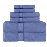 SPRINGFIELD LINEN 6 Piece Set Bath Towel Towel Blue 2 Bath Towel, 2 Hand Towel And 2 Washcloths