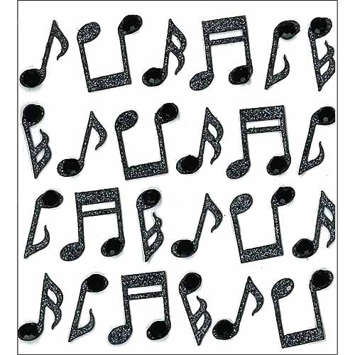Jolee's Mini Repeats Stickers, Music Notes