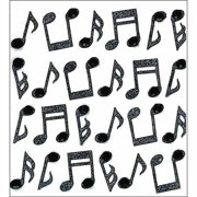 Jolee's Boutique Mini Music Notes Stickers, 24 Piece
