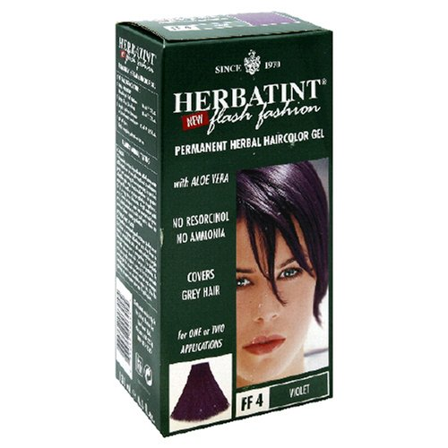 Herbatint Flash Fashion Permanent Herbal Haircolor Gel, Violet FF4, 4.56-Ounces