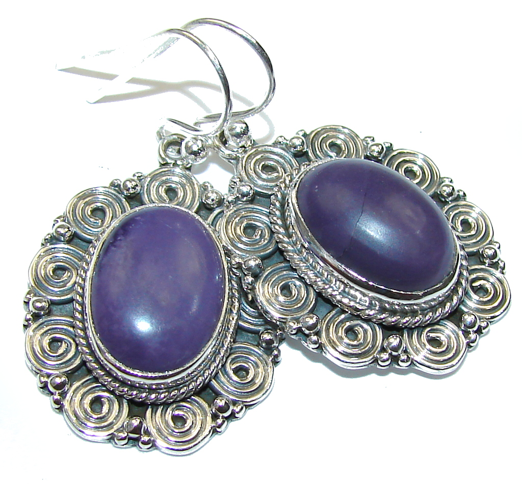 Amazing Purple Turquoise Sterling Silver earrings by SilverRush Style