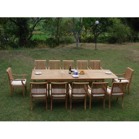Teak Dining Set:12 Seater 13 Pc - 117