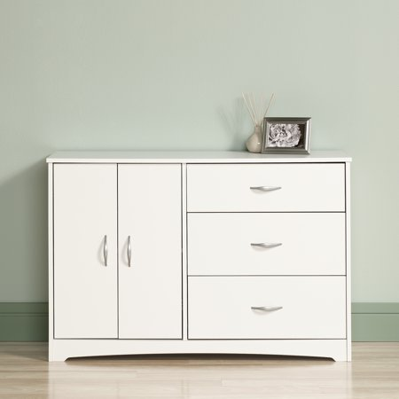 Sauder Beginnings Dresser, Soft White Finish ()