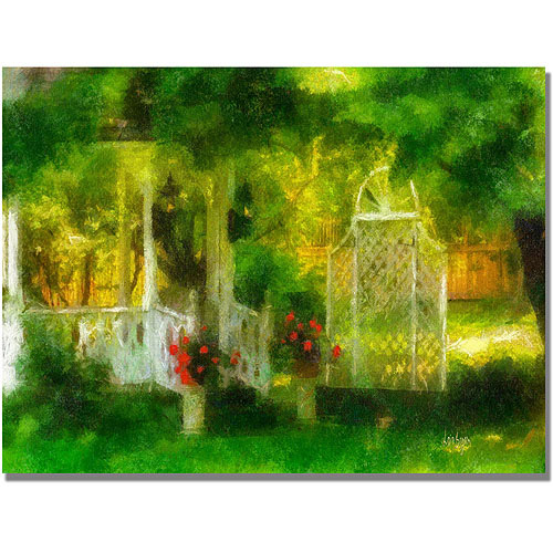 "Trademark Fine Art ""Secret Garden"". Canvas Wall Art by Lois Bryan"