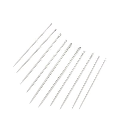 10 in 1 Metal Pointed Tip Clothes Stitching Sewing Needles - image 1 de 1