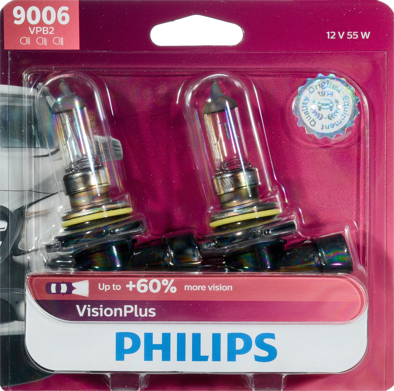 Philips VisionPlus headlight 9006, Pack of 2