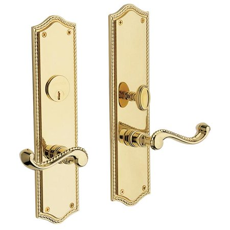 - Baldwin  6939.ENTR  Keyed Entry  Bristol  Mortise Lock  Single Cylinder  ;Lifetime Polished Brass