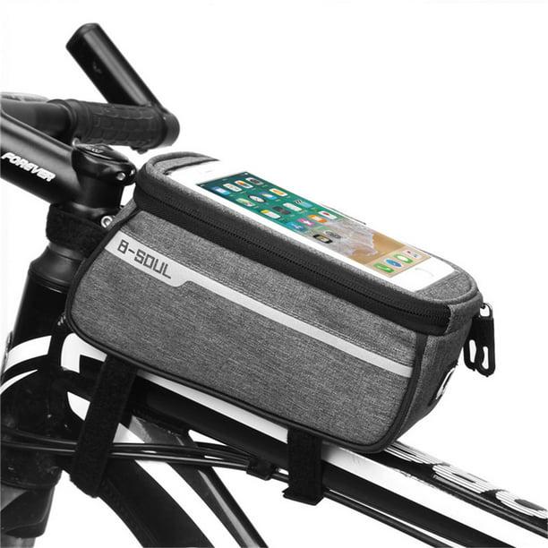 Details about  /6.0/'/'-Waterproof Bicycle Frame  Tube Handlebar Bag Touchscreen Bike Phone Bag