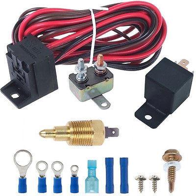 160'F Degree Electric Fan Grounding Thermostat Relay Switch Kit 3/8