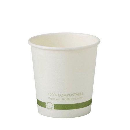 Compostable Plastic Cups - World Centric CU-PA-4 4 oz Hot Cups - Paper - Fsc Mix - Compostable