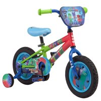 "eOne Pj Masks, Catboy, Owlette, Gekko, Kids' Bike, 12"" wheel, training wheels, ages 2 - 4, green, blue, red, boys, girls"